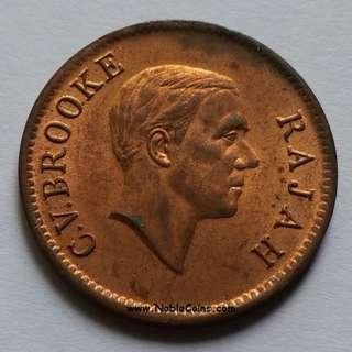 1937 Sarawak 1 cent UNC. GEM BU.