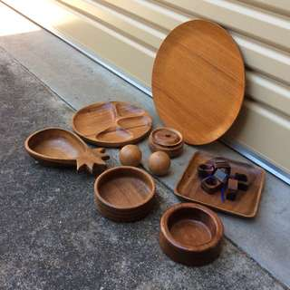 Assorted 1970's Wooden Items