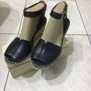 克拉克Clarks 楔型鞋 涼鞋 女鞋 魚口鞋