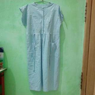 Blue & white Long Dress