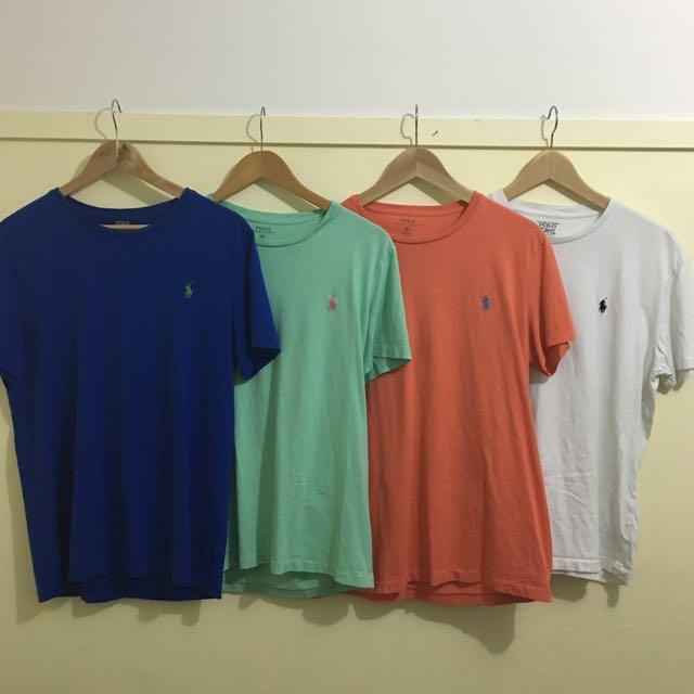 4x Polo Ralph Lauren T Shirts Medium