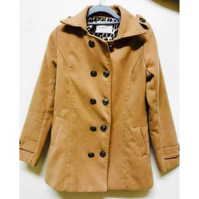 韓版米色大衣