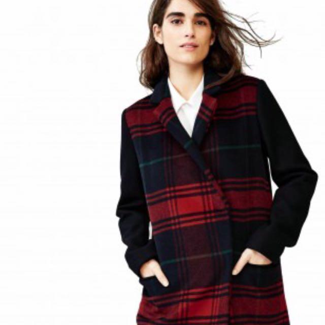美國 GAP 羊毛 長版 西裝外套