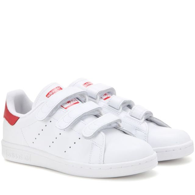 14b642747ce66e (RESERVED) Adidas Stan Smith Velcro Red
