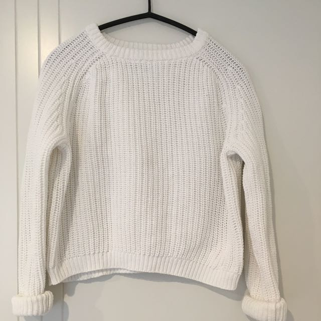 American Apparel Cropped Knitted Jumper