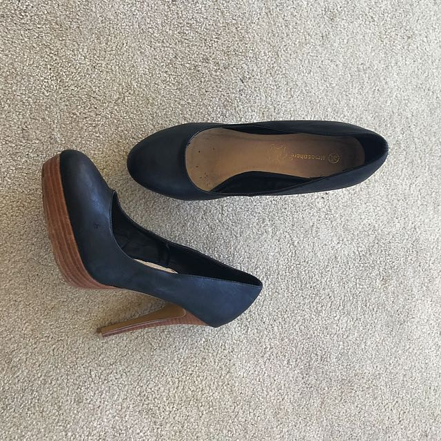 Atmosphere Black High Heels - Size 39