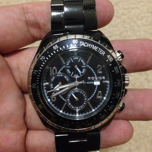Authentic Police Watch In Black