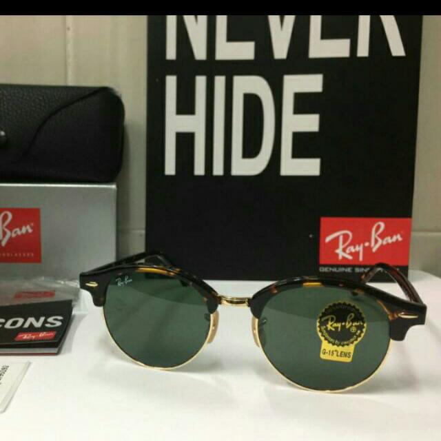 8697daa4a48 Authentic Ray Ban Clubround Tortoise