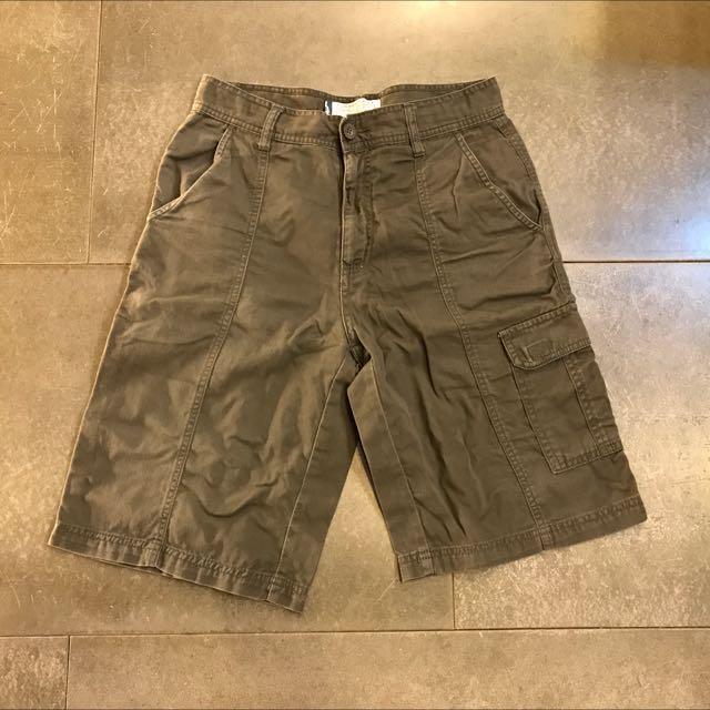 BALENO 墨綠色斜紋布工作短褲 28腰