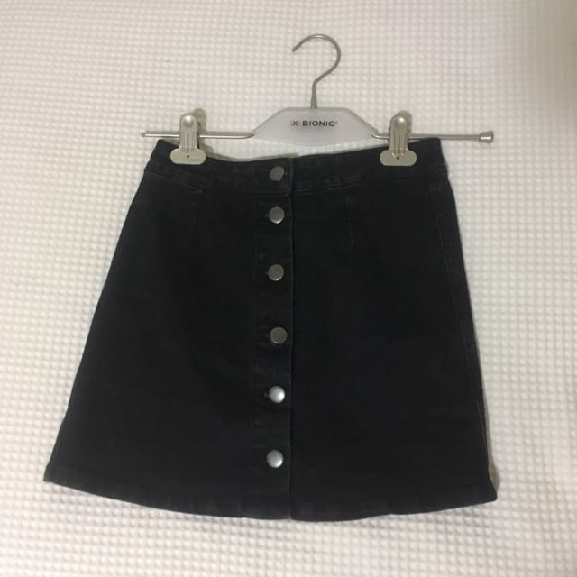 Black Denim Skirt Size 6