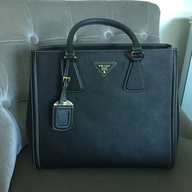 Black Prada Tote Bag