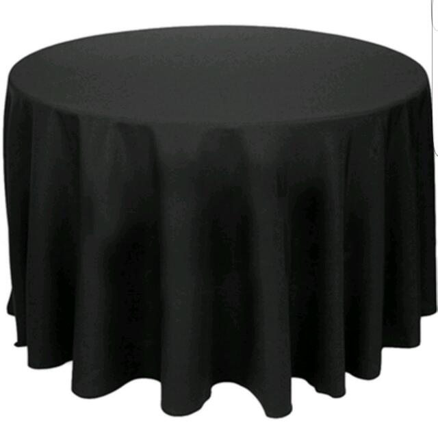 Black Round Tablecloths 260cm For Party Or Any Event