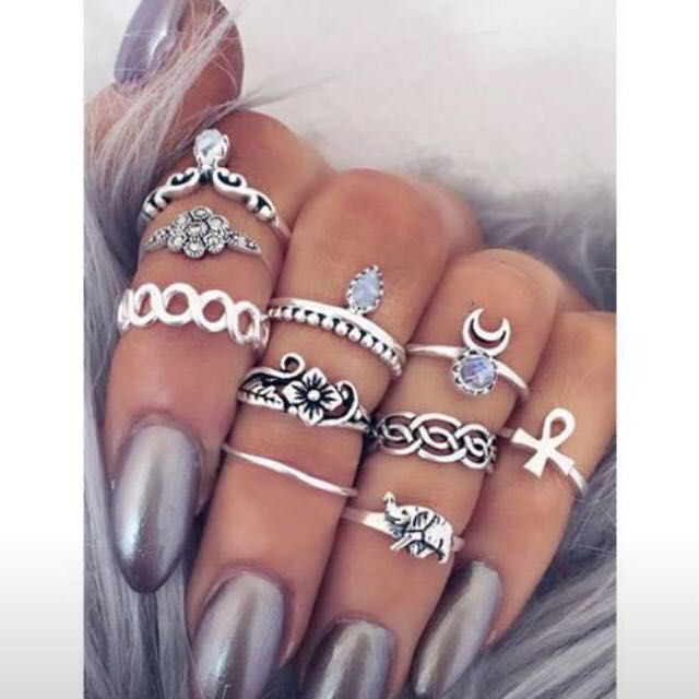 Boho Rings (set)