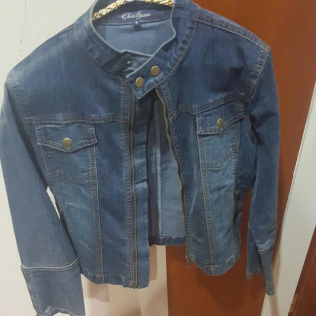 Chic Simple Jacket Jeans