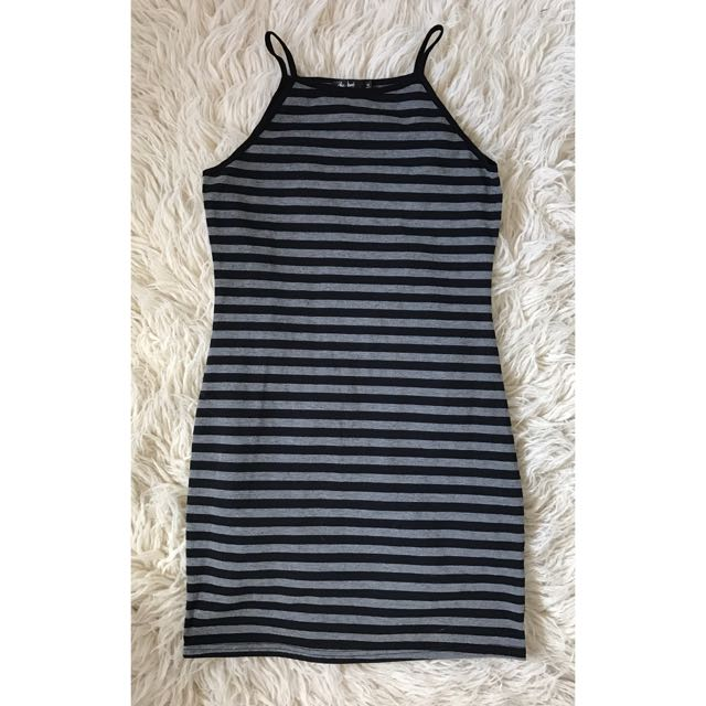 Chica Booti Stripe Halter Style Dress