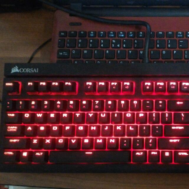 Corsair Strafe Mechanical Keyboard Brown Switches Red Led