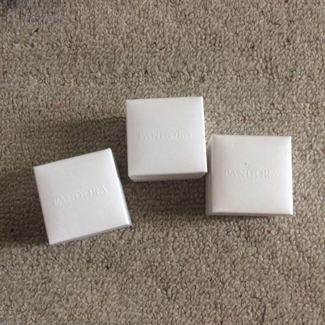 Empty Pandora Ring Boxes Set