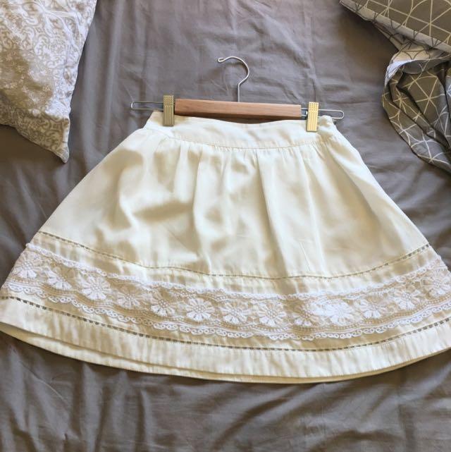 Ezra White Skirt
