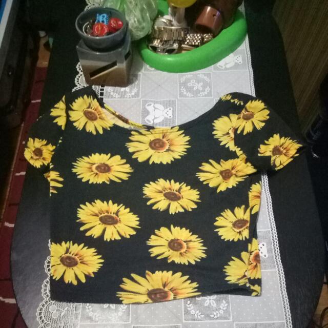 Forever21 Sunflower Croptop