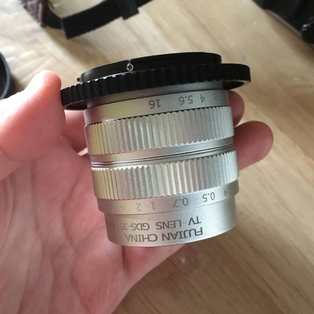 Fujian CCTV Lens 35mm F1.7 with Fujifilm Adaptor