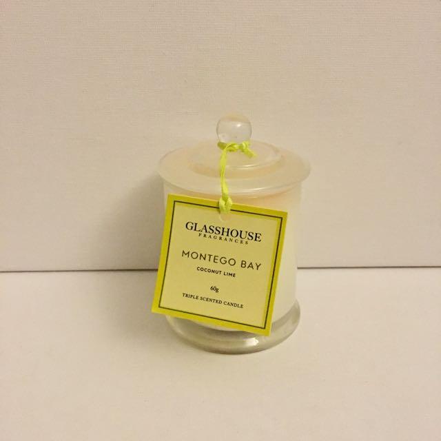 Glasshouse Montego Bay Candle Coconut Lime