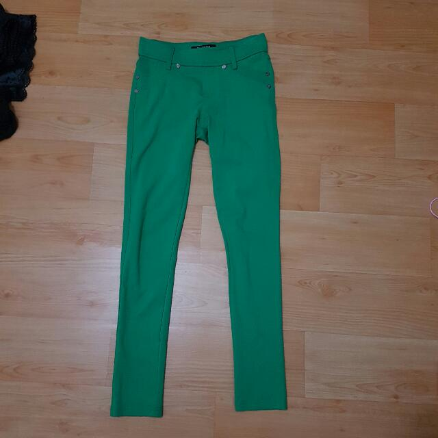 Green Ponte Jeggings