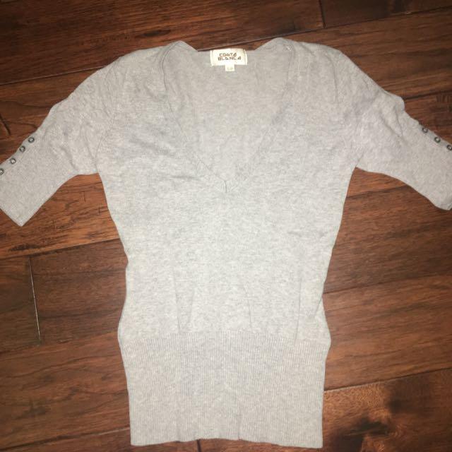 Grey Medium Sleeve Wool Shirt
