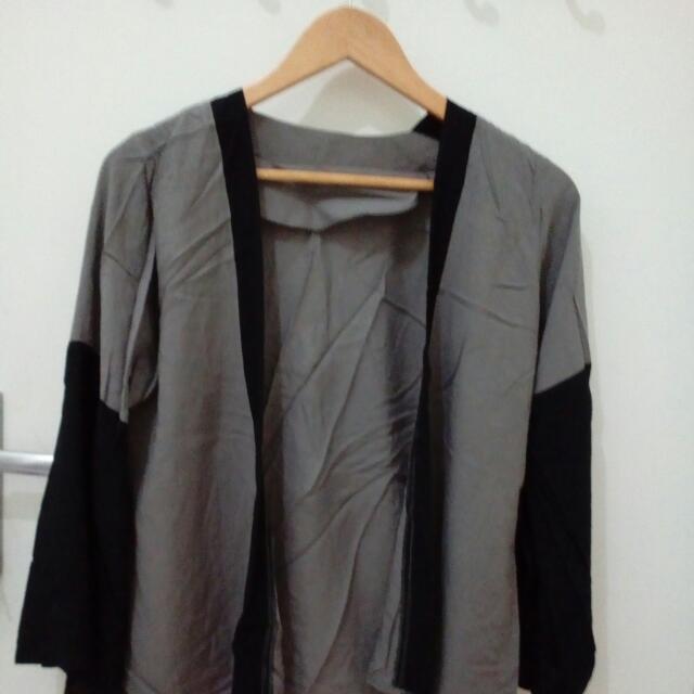 Grey Outer Kimono Style