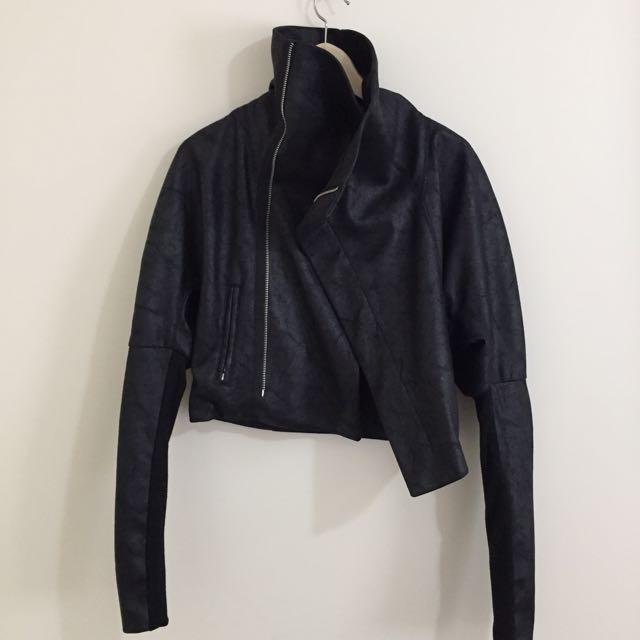 Hello Parry Vegan Leather Black Jacket