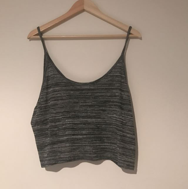 H&M Grey Cropped Singlet