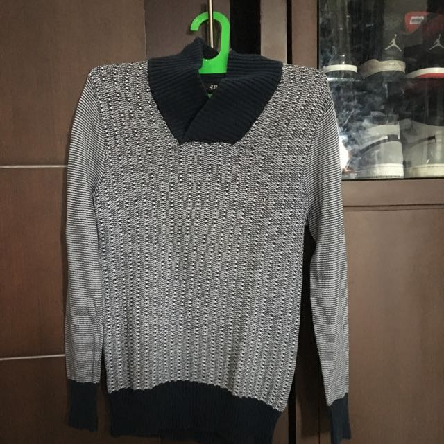 H&M Winter sweater wool navy original