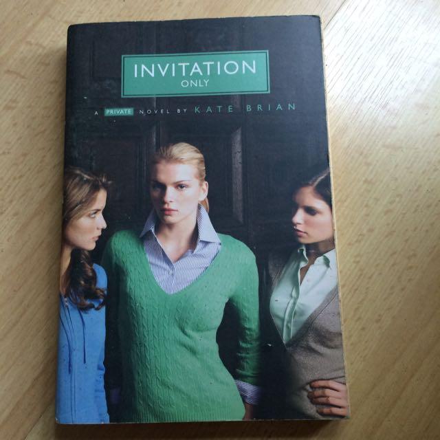 Invitation only by kate brian peralatan tulis buku di carousell photo photo photo stopboris Choice Image