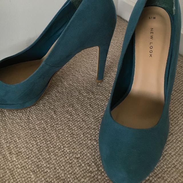 Jade Green Heels