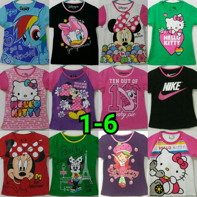 Kaos Lengan Pendek 1-6th Girl