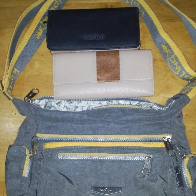 Kipling Bag Class A, Black Mango Wallet, Effigi Wallet( Naka Stock Lang) Package To
