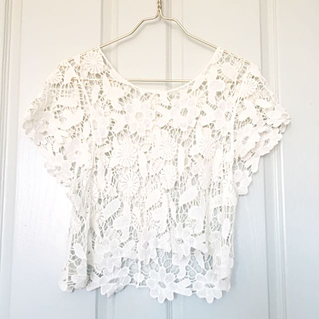 Lace Crochet Crop