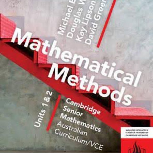 Mathematical Methods Unit 1 & 2 Pdf Only