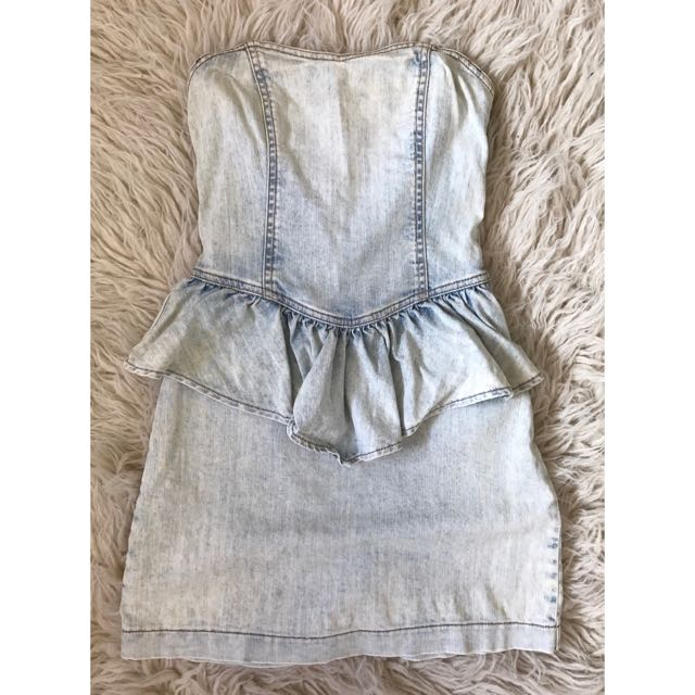 Miss Selfridge Denim Frill Dress