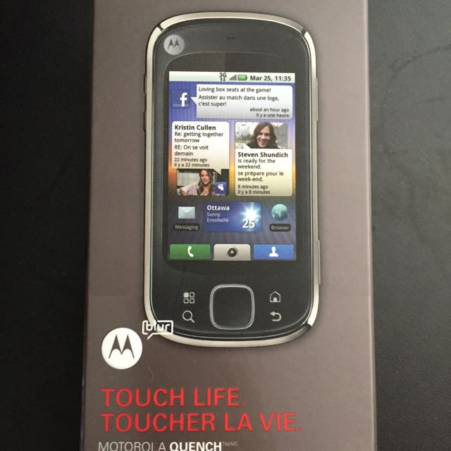 AS IS Motorola Quench (Rogers)