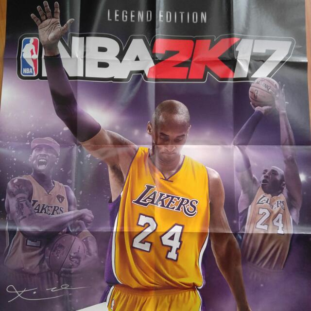 Nba 2k17 Legend Edition Kobe Bryant Poster And Xbox One