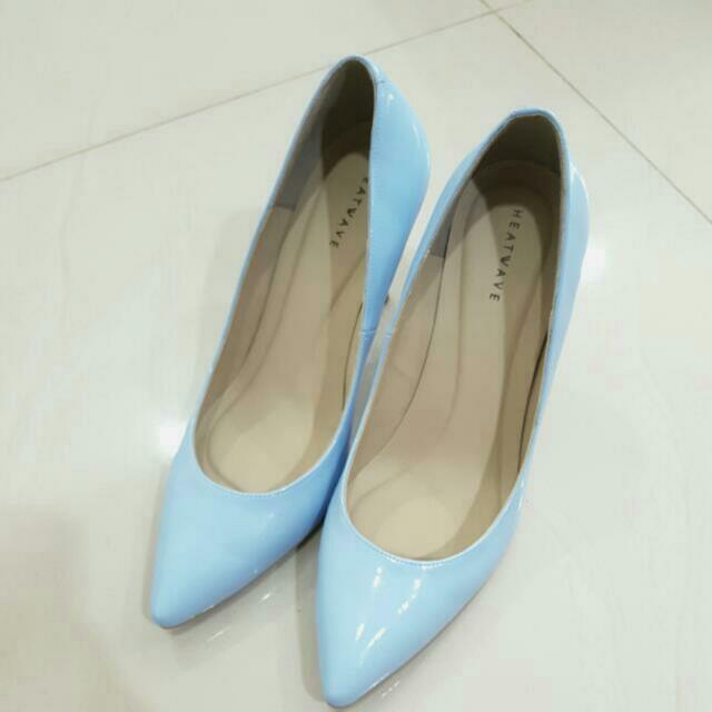 NEW Heatwave baby blue heels sz38 With Box