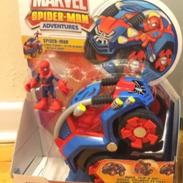 NEW Marvel Playskool Heroes Flip-Out Stunt Buggy Spider-Man