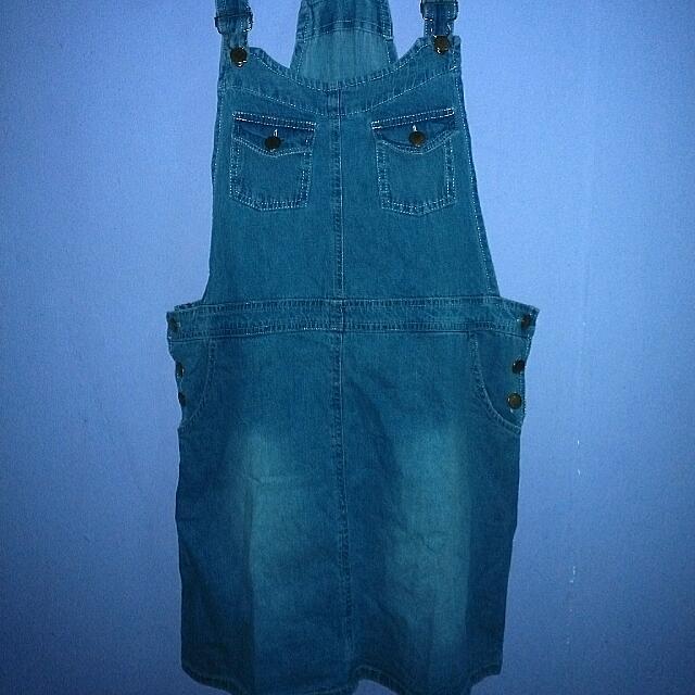 Overall Baju Kodok Rok Jeans