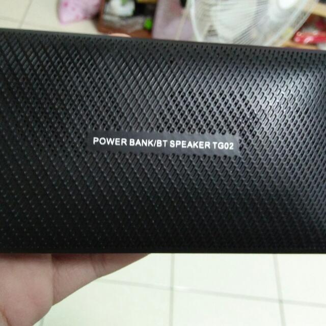 乂power bank/speaker tg02 藍芽音箱乂
