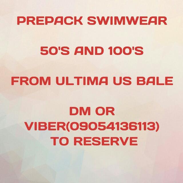 prepacked swimwear
