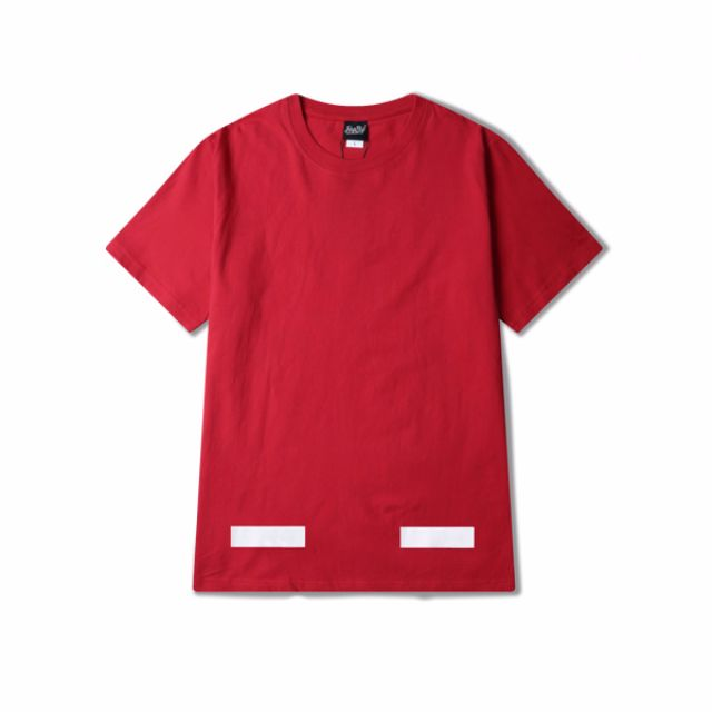 6df9ff70 [READY STOCK] OFF-WHITE Red Cotton Tee Shirt T0779, Men's Fashion, Clothes  on Carousell