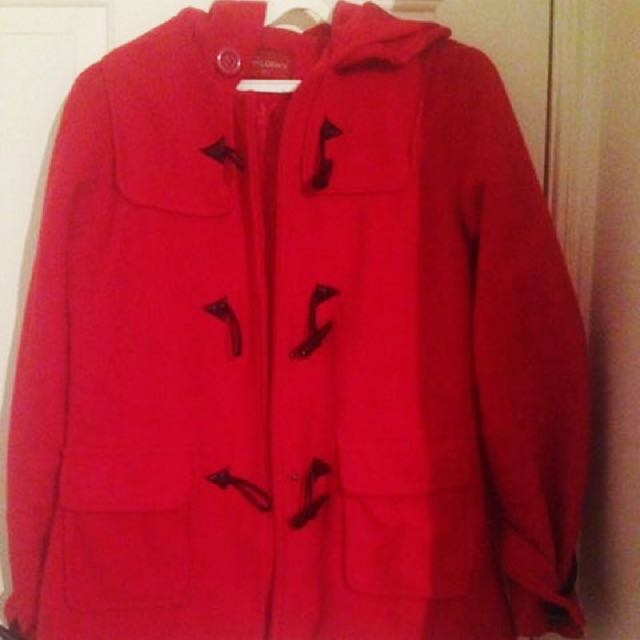 Red Hooded Coat