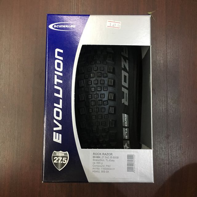 """Schwalbe Rock Razor SnakeSkin TL Tire 27.5x2.35/"""" 67 TPI Tubeless"""