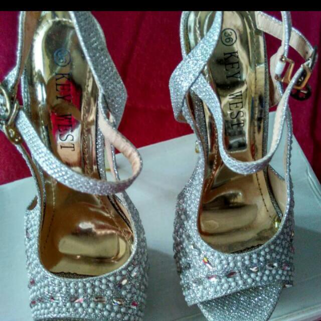 Sepatu Bling Bling Silver