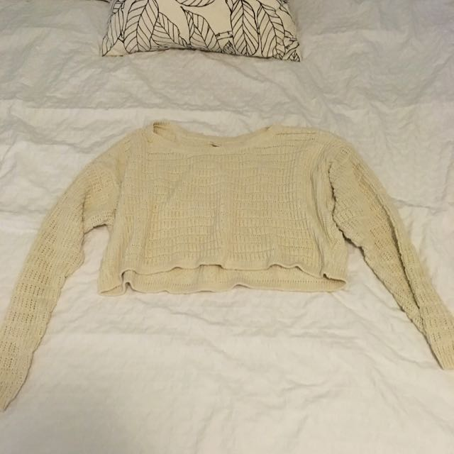 Silence And Noise Cropped Sweater